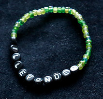 Armband enfärgad grön/svart