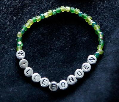 Armband enfärgad grön/silver