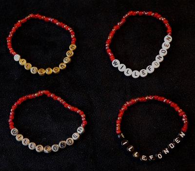 Armband enfärgad röd/guld
