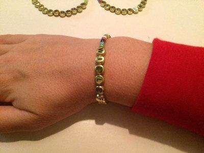 Armband klara/guld