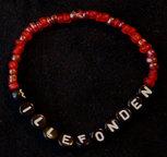 Armband enfärgad röd/svart