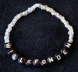 Armband enfärgad vit/svart