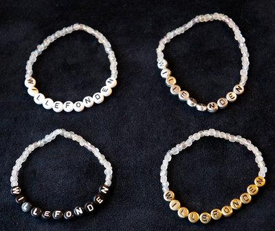 Armband enfärgad vit/guld