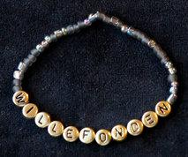 Armband enfärgad svart/guld