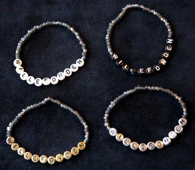 Armband enfärgad svart/vit