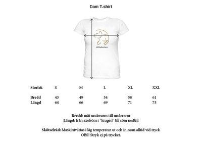 T-Shirt med litet tryck. Dam