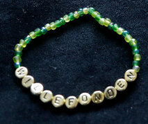 Armband enfärgad grön/guld