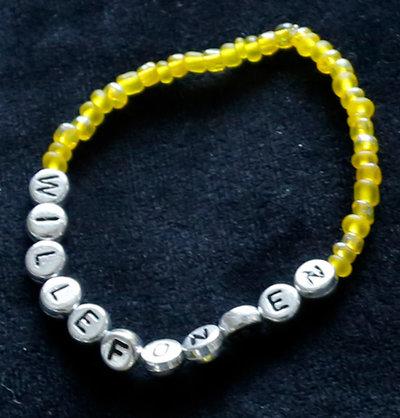 Armband enfärgad gul/silver
