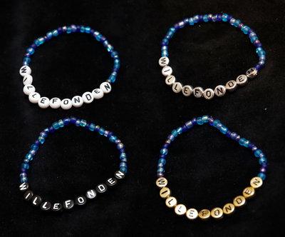Armband enfärgad blått/silver